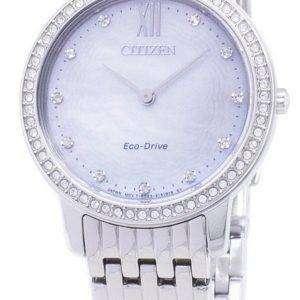 Ciudadano Eco-Conduzca EX1480-82D diamante Acentos analógico Watch de Women