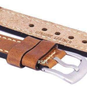 Relación marrón marca correa de piel 22mm