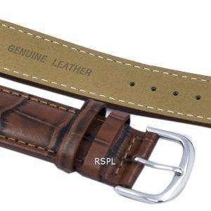 Correa de cuero marrón relación marca 22mm para SKX007 SKX009, SKX011, SNZG07, SNZG015