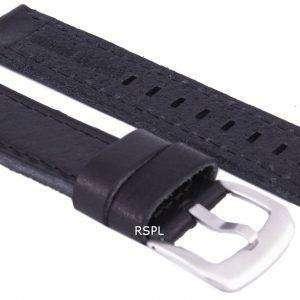 Correa de cuero de marca relación negro 20mm