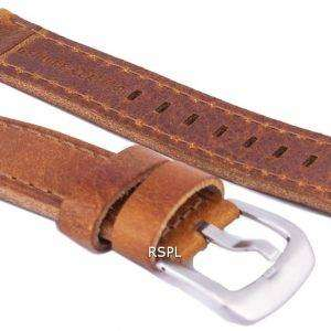 Correa de cuero marrón relación marca 20mm