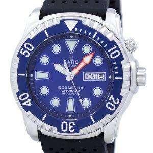 Relación II libre Diver 1000M helio-seguro automático 1068HA90-34VA-01 Watch de Men
