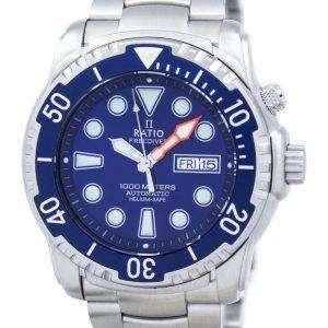 Relación II libre Diver 1000M helio-seguro automático 1068HA96-34VA-01 Watch de Men