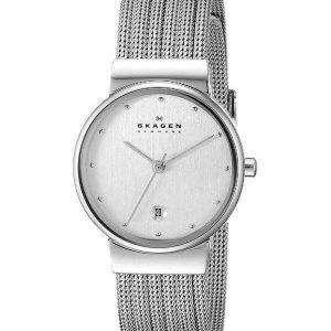 Skagen plata tono malla pulsera 355SSS1 reloj de mujeres
