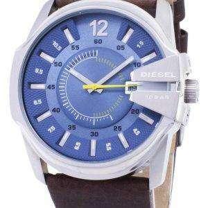 Reloj Diesel Mega jefe cuarzo azul esfera cuero marrón DZ1399 de los hombres