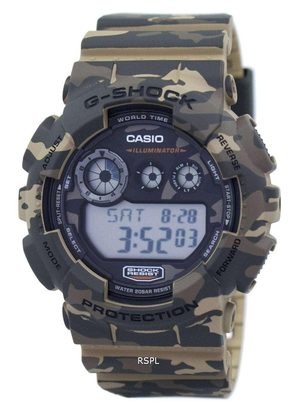 eae0054ed867 Reloj Casio G-Shock Digital camuflaje serie GD-120CM-5 hombres ...