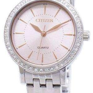 Ciudadano cuarzo EL3041-87 X analógico Diamond Accent Relojes de mujer