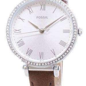 Fósiles Kinsey ES4446 diamante Acentos cuarzo reloj de mujer