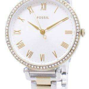 Fósiles Kinsey ES4449 diamante Acentos cuarzo reloj de mujer
