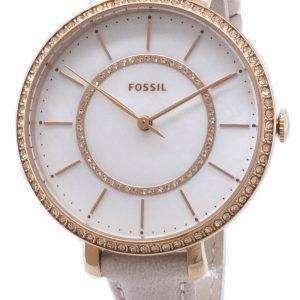 Fósiles Jocelyn ES4455 diamante Acentos cuarzo reloj de mujer