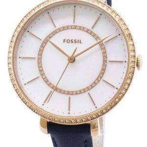 Fósiles Jocelyn ES4456 diamante Acentos cuarzo reloj de mujer