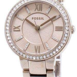 Fósiles diamante Virginia ES4482 Acentos cuarzo reloj de mujer