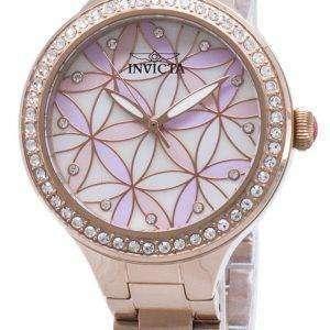 Invicta Wildflower 28824 diamante Acentos cuarzo analógico Relojes de mujer