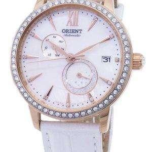 Oriente el sol y la luna RA-AK0004A00C diamante Acentos automáticos reloj de mujer