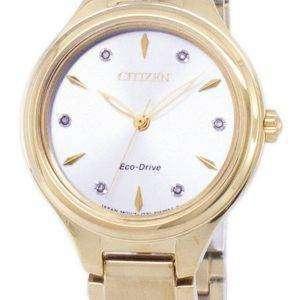 Ciudadano Corso Eco-Drive diamantes Acentos FE2102-55A reloj de mujer