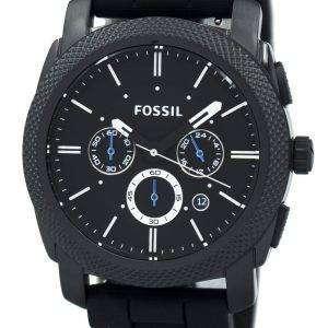 Fossil Machine Chronograph pulsera de silicona negra FS4487 reloj de caballero