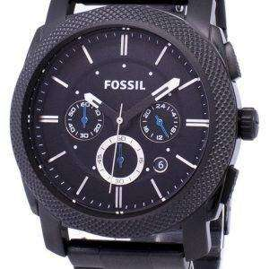 Fósil Machine cronógrafo negro IP acero inoxidable FS4552 reloj de caballero