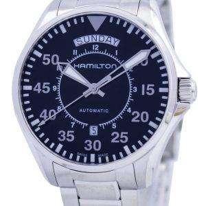 Hamilton piloto día fecha aviación automático H64615135 reloj de caballero