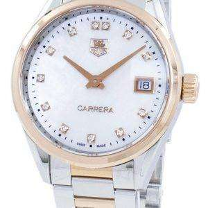Acentos de diamante de cuarzo Tag Heuer Carrera WAR1352. BD0779 reloj de mujer