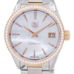 TAG Heuer Carrera cuarzo diamante acento WAR1353. BD0779 reloj de mujer