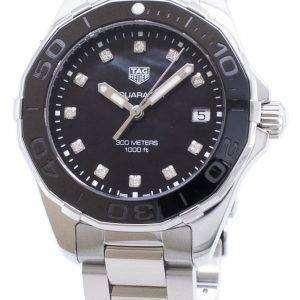 Tag Heuer Aquaracer WAY131M. BA0748 diamantes Acentos cuarzo 300M reloj de la mujer