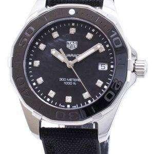 Tag Heuer Aquaracer WAY131M. FT6092 diamantes Acentos cuarzo 300M reloj de la mujer