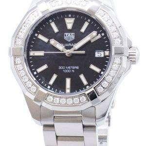 Tag Heuer Aquaracer WAY131P. BA0748 diamantes Acentos cuarzo 300M reloj de la mujer
