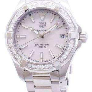 Tag Heuer Aquaracer WBD1313. BA0740 diamantes Acentos cuarzo 300M reloj de la mujer