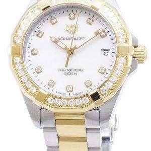 Tag Heuer Aquaracer WBD1323. BB0320 diamantes Acentos cuarzo 300M reloj de la mujer