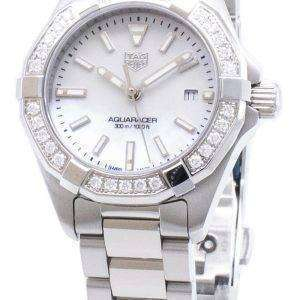 Tag Heuer Aquaracer WBD1413. BA0741 diamantes Acentos cuarzo 300M reloj de la mujer