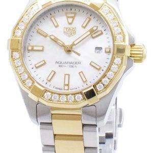 Tag Heuer Aquaracer WBD1421. BB0321 diamantes Acentos cuarzo 300M reloj de la mujer