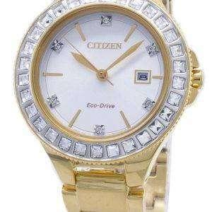 Reloj de mujer Swarovski Crystal de Citizen Silhouette Eco-Drive FE1192-58A