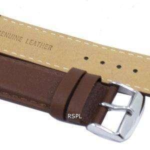 Correa de cuero marrón marca Ratio 22mm