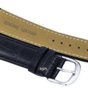 Correa de cuero marca negro ratio 22mm