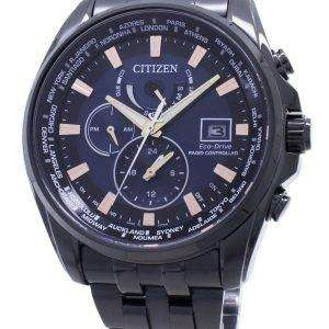 Citizen Eco-Drive Global Radio-Controlled AT9039-51L Japan Made 200M para hombre