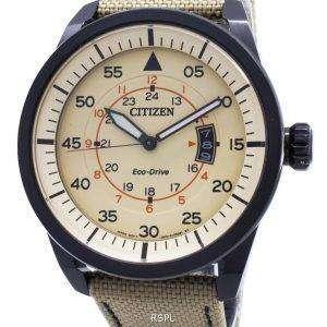 reloj Citizen Eco-Drive aviador poder reserva AW1365 - 19p hombres