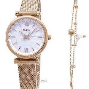 Fossil Carlie Quartz ES4443SET reloj para mujer
