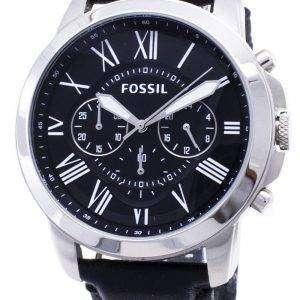 Fossil Grant Chronograph pulsera de cuero negro FS4812 reloj de caballero