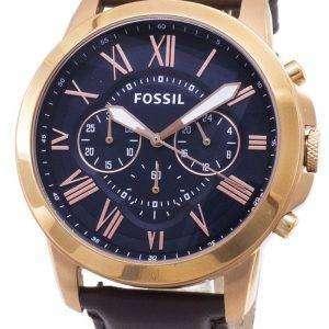 Fossil Grant Chronograph Rose Gold-Tone FS5068 reloj de caballero