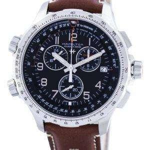 Hamilton Khaki Aviation X-Wind Cronógrafo Cuarzo GMT Swiss Made H77912535 Reloj para hombre