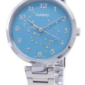 Casio cuarzo LTP-E07D-3A LTPE07D-3A reloj analógico para mujer