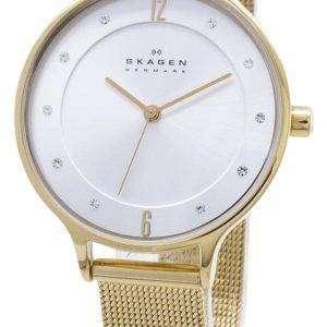 Skagen Anita oro tono malla pulsera cristalizada SKW2150 reloj de la mujer