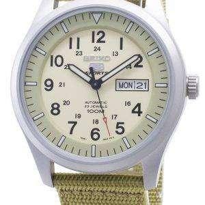 Seiko 5 Sports Automatic SNZG07K1 SNZG07 SNZG07K Nylon militar correa hombres reloj