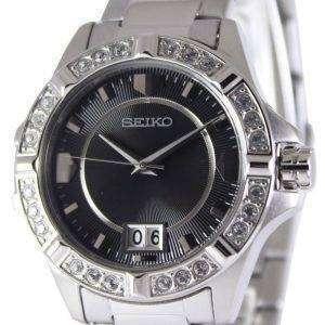 Cristales de cuarzo de Seiko Black Dial SUR807P1 SUR807P reloj de mujeres