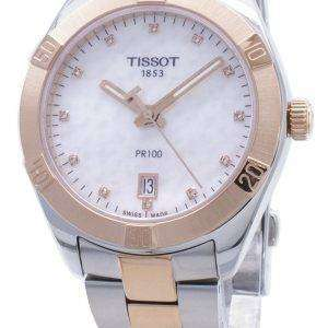 Tissot T-Classic PR100 T101.910.22.116.00 T1019102211600 Reloj para mujer con detalles de diamantes
