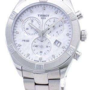 Tissot T-Classic PR 100 Sport Chic T101.917.11.116.00 T1019171111600 Reloj cronógrafo para mujer