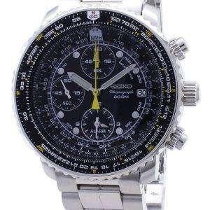 Reloj de Seiko alarma Cronógrafo SNA411P1 SNA411P SNA411 piloto del vuelo