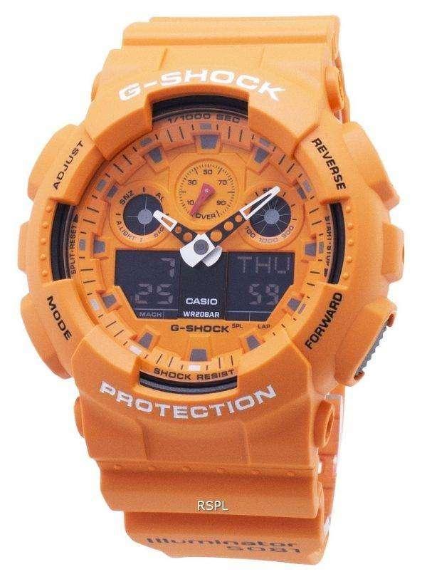 Reloj Casio G-Shock GA-100RS-4A GA100RS-4A Cronógrafo Quartz 200M Hombre