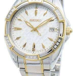 Reloj Seiko Classic SKK880P SKK880P1 SKK880 Diamond Acentos de cuarzo para mujer