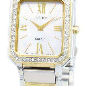 Seiko Conceptual SUP428P SUP428P1 SUP428 Diamond Acentos Solar Reloj para mujer